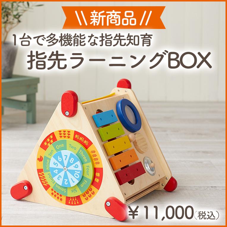 音遊びからお絵かき、パズルまで!指先知育がたくさん!1歳誕生日プレゼントにぴったりな木のおもちゃ<BR>「指先ラーニングBOX」