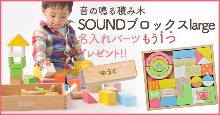 積み木のプレゼントは木のおもちゃの定番!音の鳴る積み木SOUNDブロックスLarge