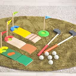 3歳誕生日プレゼント身体を動かして遊ぶランキング2位「ゴルフセット」