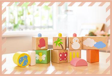 赤ちゃんに人気の木のおもちゃの定番の積み木