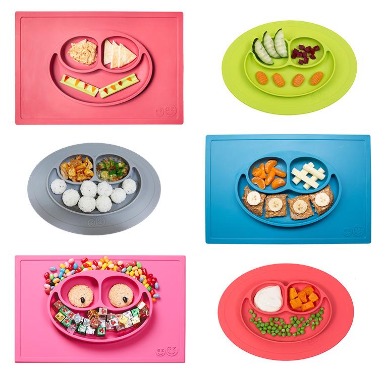 離乳食期にあると便利なezpz(イージーピージー)のひっくり返らないベビー食器はフードアートも楽しめます
