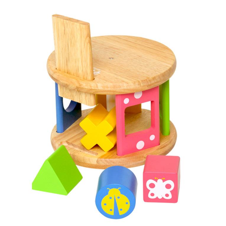 積み木の木のおもちゃKOROKOROパズル