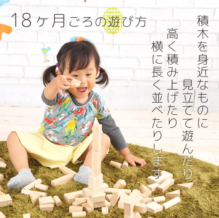 18か月頃の遊び方は積み木を高く積み上げたり