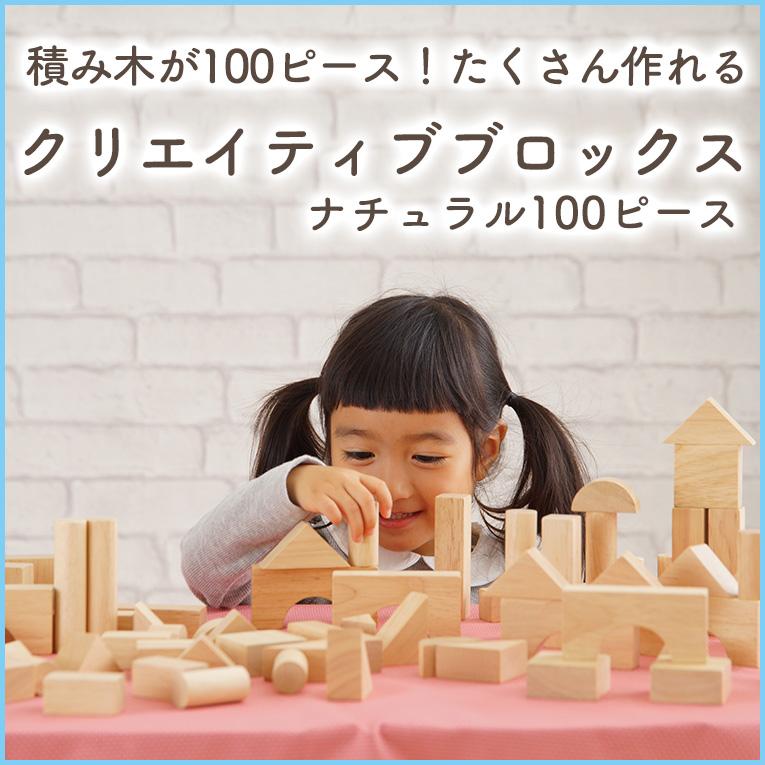 積み木が100ピースの沢山作れる「クリエイティブブロックス」