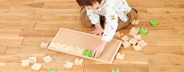 3歳のパズル遊び