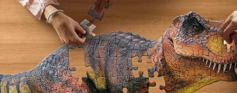4歳のパズル遊び