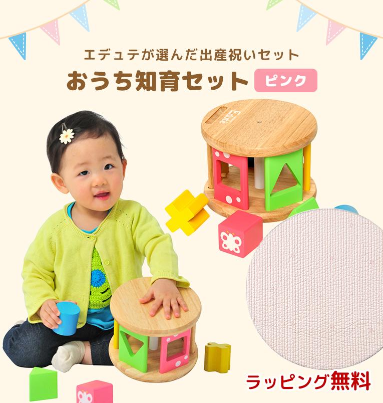 おうち知育セット ピンク< 0歳 6ヶ月 1歳 > width=
