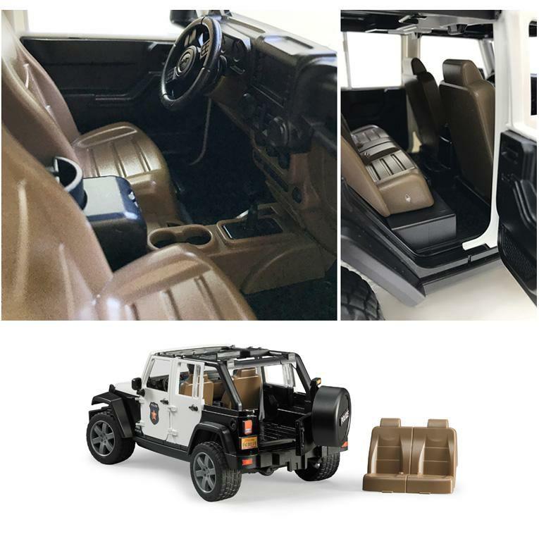 ブルーダー Jeep パトカー フィギュア付き<3歳>Bruder ブルーダー