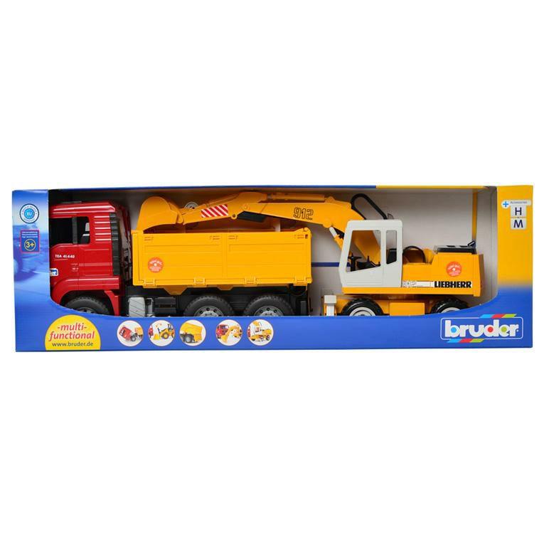 ブルーダー MAN トラック&LHショベル<3歳>Bruder ブルーダー