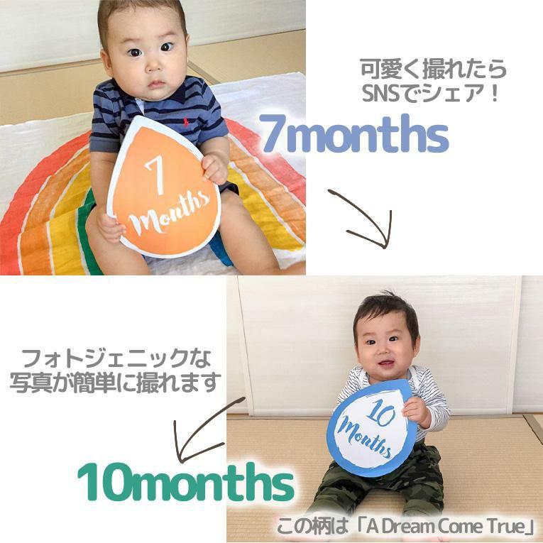 マイルストーンカードセット Mon petit Coeur<0歳1歳2歳3歳>lulujo ルルジョ