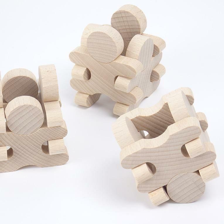 木製忍者 36ピース <3歳>MUKU studio 無垢工房