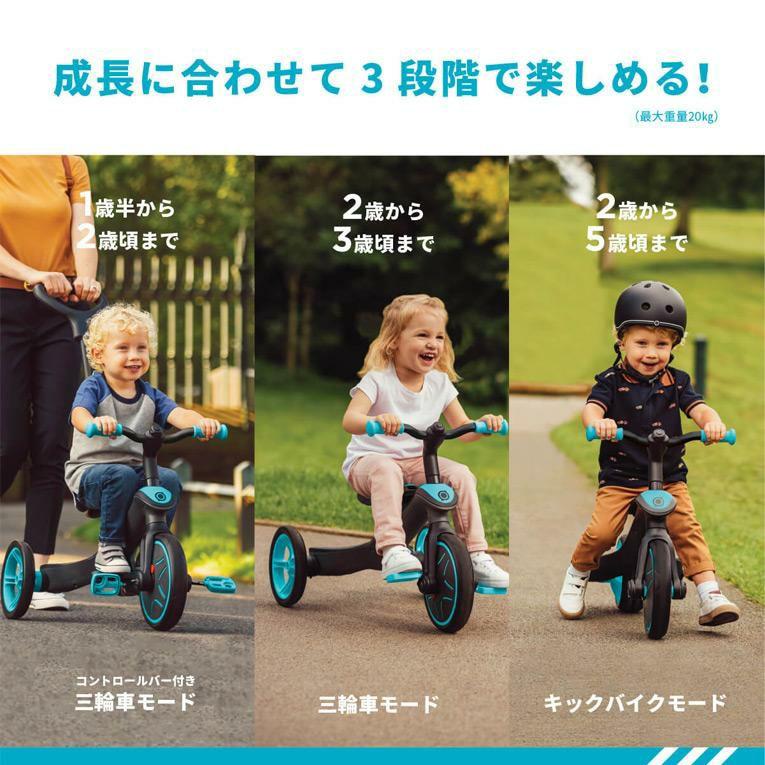 成長に合わせて3段階で楽しめるエクスプローラー トライク 3in1<1歳2歳3歳>GLOBBER(グロッバー)